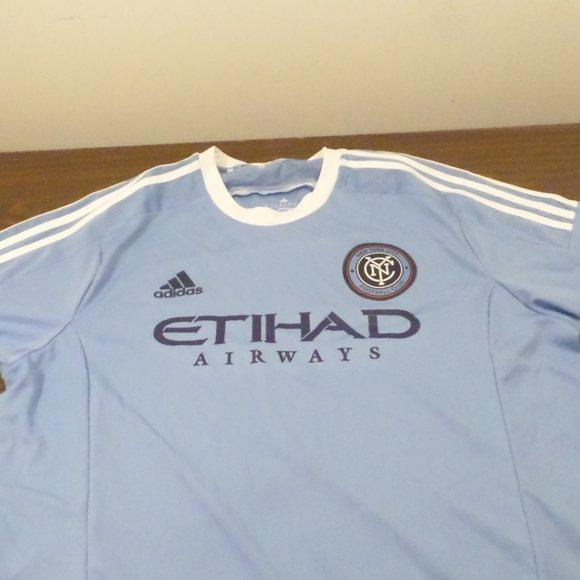 adidas Shirts | Adidas Nyc Etihad Airways Mls Soccer Jersey | Poshmark